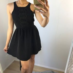 BcbGeneration - Black Mini Dress w/ Semi Back Open